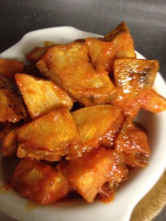 "Valparaiso, IN: ""Patatas Bravas""  Spicy Potatoes"