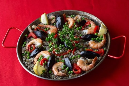 Valparaiso, IN: Black Paella! Discover a different Color/Taste of Paella made with Squid's Ink.