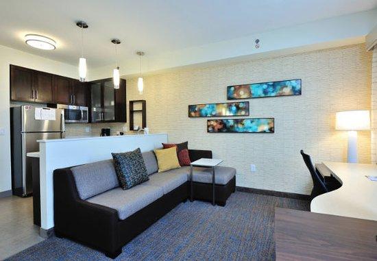 King Studio Suite Living Room at Residence Inn by Marriott Houston Tomball