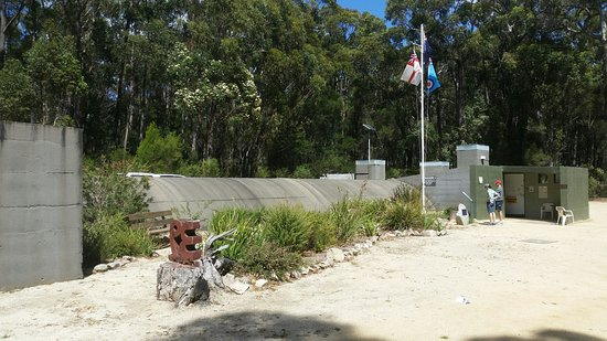 Mallacoota, Australia: This is a view of the exposed section of the Bunker