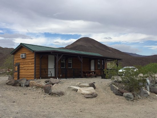 Panamint Springs Resort: The outside of the cabin, which is a duplex of two rooms.