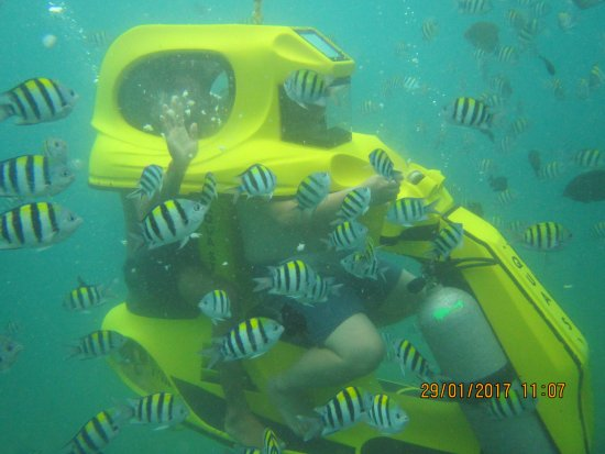 Tanjung Benoa, Indonesia: Underwater scooters riding Bali. Aqua Star