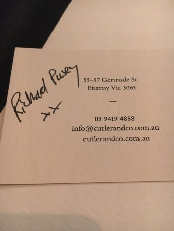 Cutler & Co: Review of by Richard Pusey