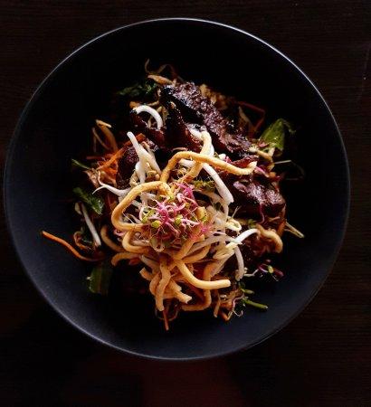 Katikati, Новая Зеландия: Thai Beef Salad from lunch a la carte menu