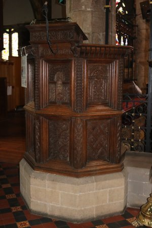 Pulpit, St. Mary's church, Kirkby Lonsdale