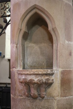 Piscina, St' Mary's church, Kirkby Lonsdale