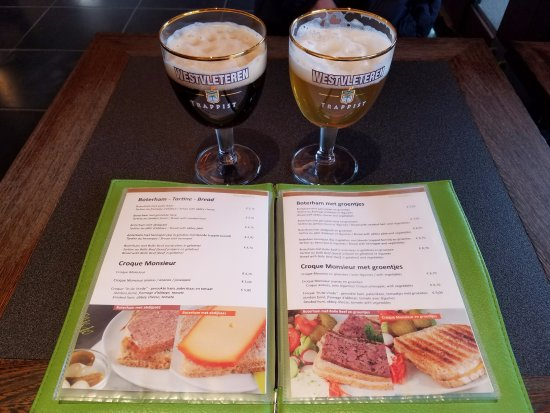 Westvleteren, Belgium: A Westy 12 & Blonde with the In De Vrede menu