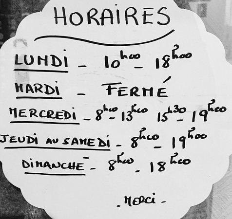Valbonne, Frankrijk: Horaires