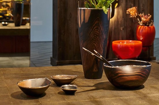Choeng Thale, Tajlandia: Exotic wood with sterling silver