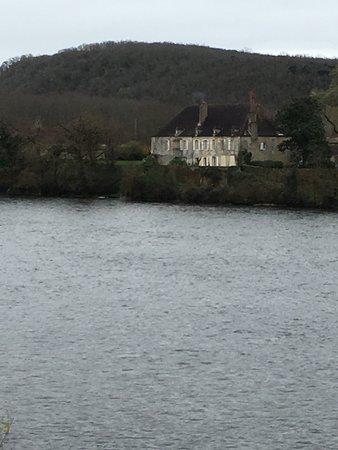 Lalinde, França: Vista desde la habitación: el Dordoña