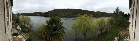 Lalinde, Frankrike: Vista desde la habitación: el Dordoña