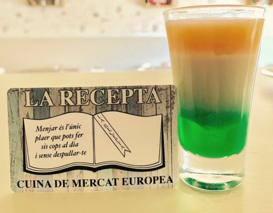 Руби, Испания: Chupito Bandera de Irlanda