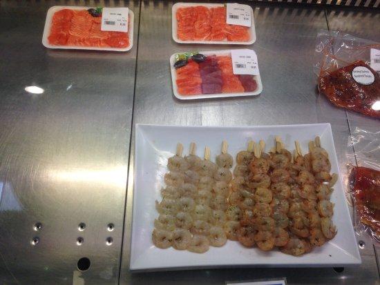 Auckland Region, Nowa Zelandia: sashimi of tuna and salmon