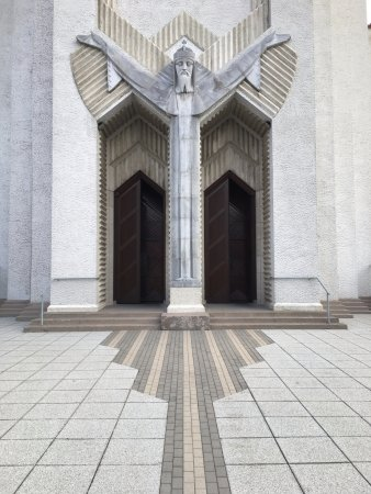 Church of Christ the King: Main entrance.
