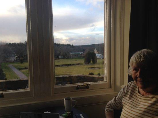 Nethybridge Hotel: View from bedroom window