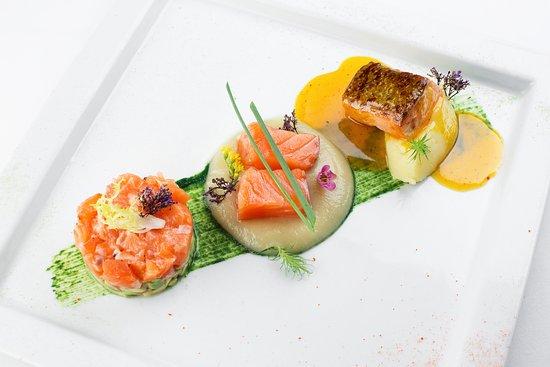 Трио лосось - новое блюдо нашего Сальваторе