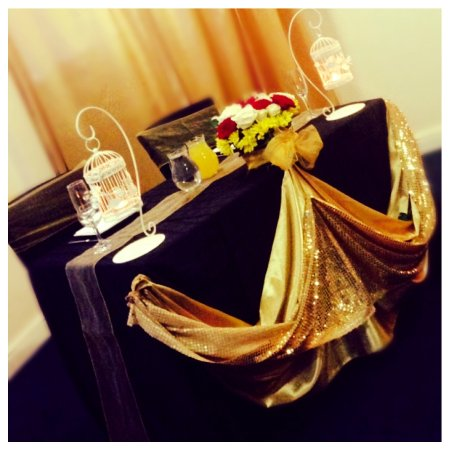Bilston, UK: Head Table; GOLD Anniversary