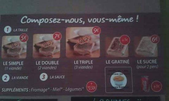 Brignoles, France: nos tacos, simple , double ou triple