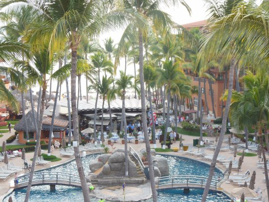 Villa del Palmar Beach Resort & Spa: There are several pools -- this is the central pool. Lots of activities.