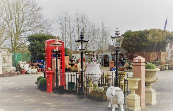 Little Budworth, UK: Fencing, pillars, phone boxes and sheep - diversity and originality is what it is all about