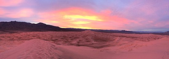 Mojave, Californien: Spectacular sunset at the summit
