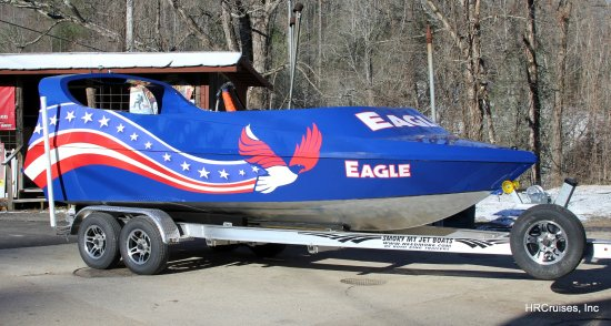 Kingston, NY: A Smoky Moutain Jet Boat coming to a dock near you.