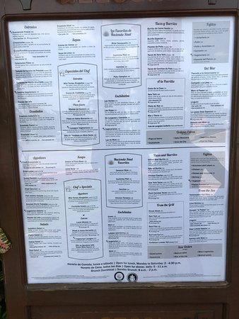 Hacienda Sisal : Menu 3/2017