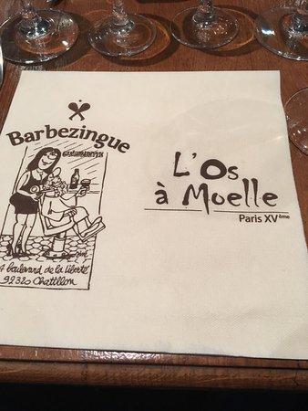 L'Os a Moelle : Huîtres rôties. Baba au rhum. Bon rapport qualité-prix.