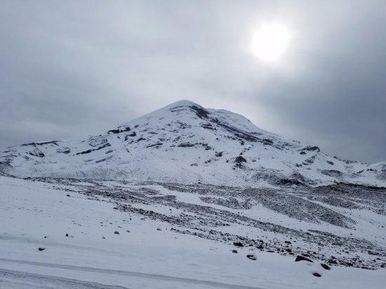 Machachi, Ecuador: An extremely snowy day on Chimborazo