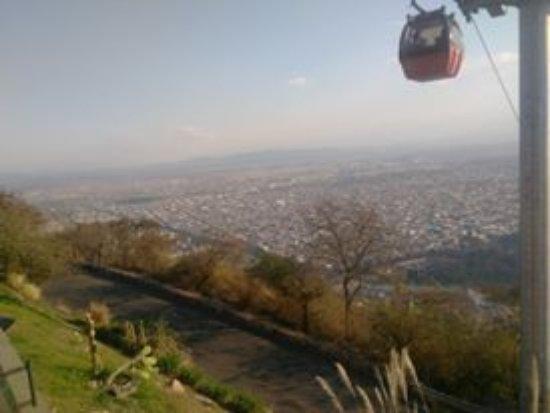 Salta Tram (Teleferico) : LLegando a la estación