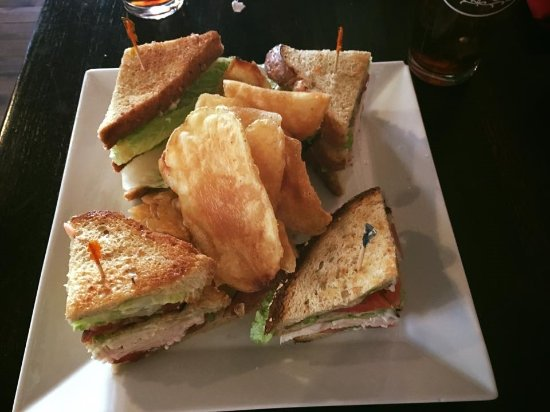 Claremont, NH: Enjoy our huge Taverne Club and homemade chips