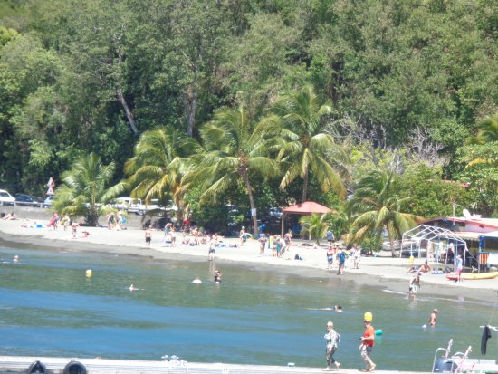 Bouillante, Guadalupe: la plage