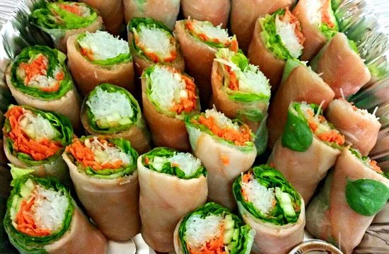 Santa Ana, Costa Rica: Spring Rolls with Salmon!!