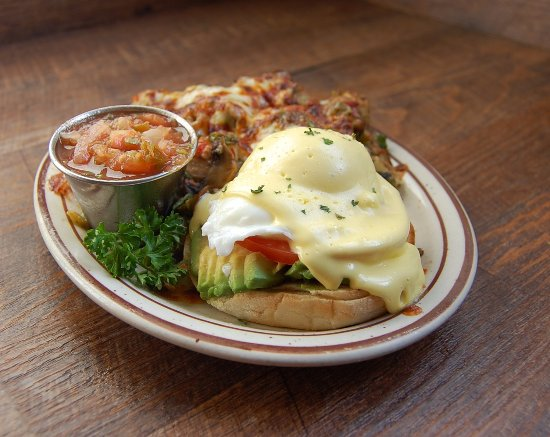 Fire Sign Cafe: Veggie Benedict with veggie potatoes