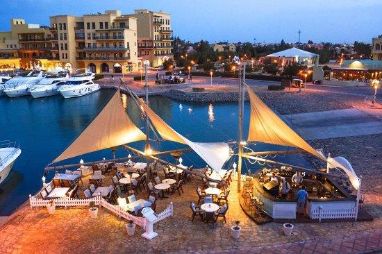 Birds eye view of Maritim Restaurant Abu Tig Marina
