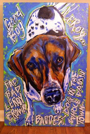 Tami Curtis Gallery: This Is A Pet Portrait Of Leroy The Dog By Tami Curtis