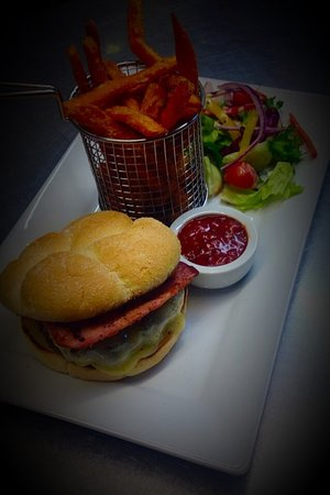 Guilsfield, UK: Beef Burger - With a choice of a sides