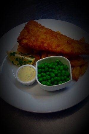 Guilsfield, UK: Freshly Battered Cod & Hand cut Chips