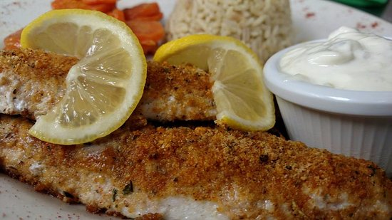 Clare, MI: Parmesan Crusted Perch