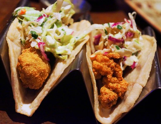 Kingston, NY: Fried oyster tacos w/ jicama slaw