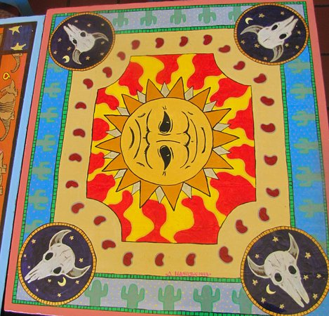 Kingston, NY: Handpainted big sun table