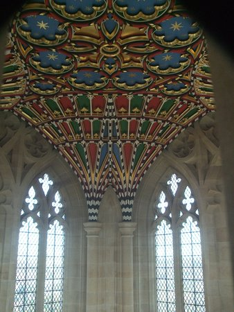 Bury St. Edmunds, UK: Tower ceiling