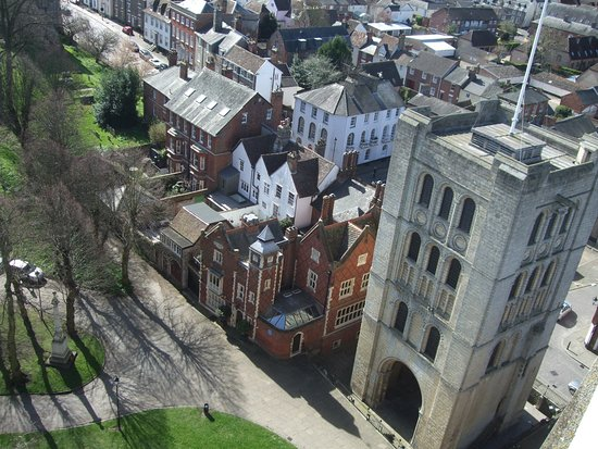 Bury St. Edmunds, UK: View to the Norman Tower