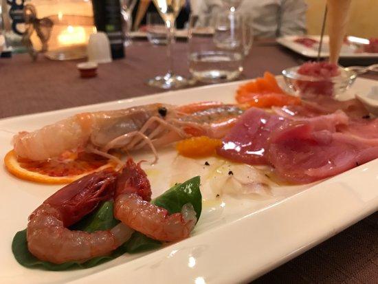 Quarto D'Altino, Italia: Pesce crudo (antipasto)