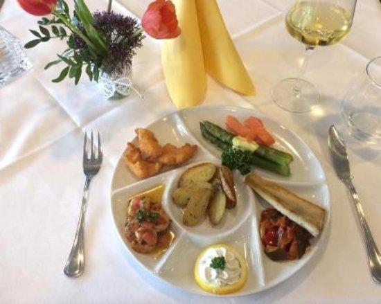 Staad, Switzerland: Unser Highlight : Fisch-Crevettenpalette
