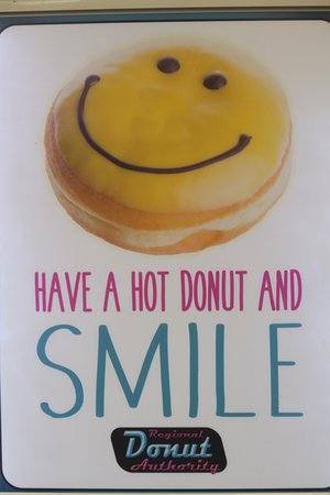 Liverpool, NY: Have a hot donut and try not to smile and make yummy sounds. I dare you.