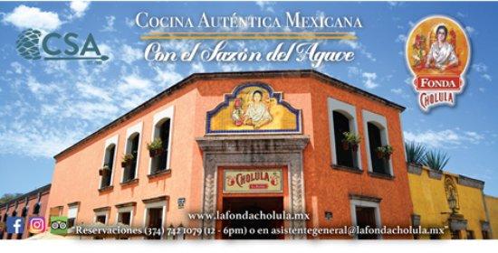 Cholula La Fonda : Restaurante Tequila Cocina Auténtica Mexicana