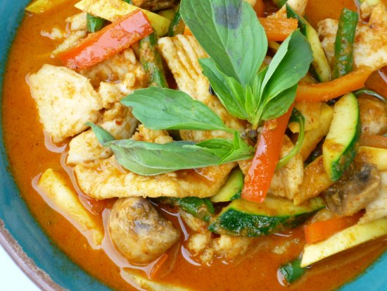 Panang Chicken - spicy but fantastic