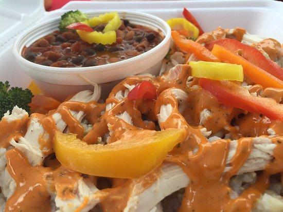 Kent, Ohio: 1st Place Award Winning Meal - Vegan Chili, Chicken w/ Chipotle Aioli
