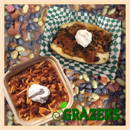 Kent, OH: Our meatless chili is great on a baked potato!